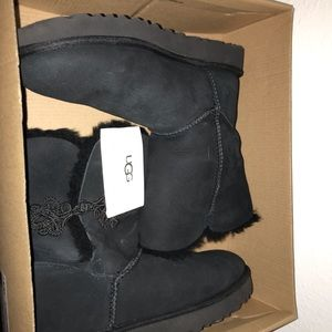 Ugg Bailey Mariko Lined Boots - Black, Size 9